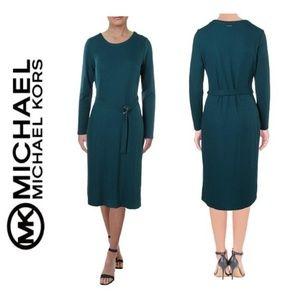NWT MICHAEL KORS Long Sleeve Ribbed Knit Dress